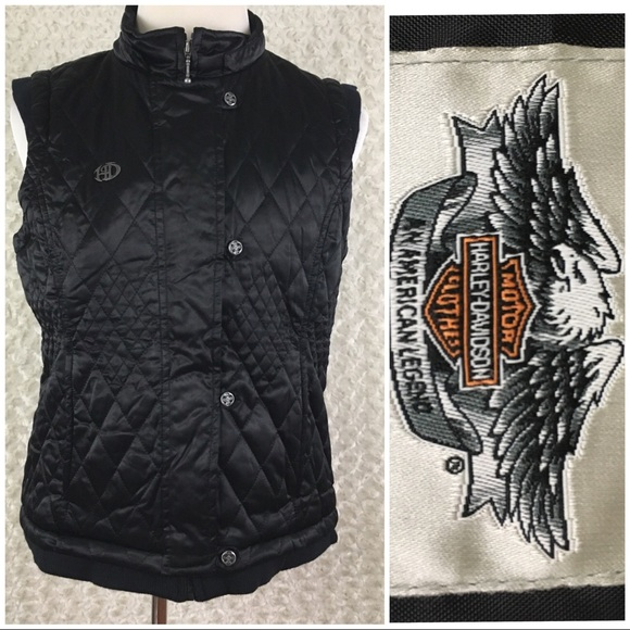 new arrive latest selection of 2019 big sale Harley Davidson Biker Puffer Women's Vest Sz L